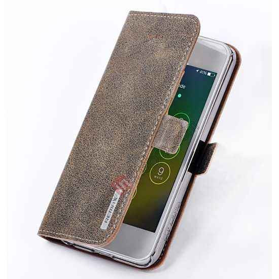 discount Remax Luxury 100% Genuine Real Cow Leather Case for iPhone 5S/5