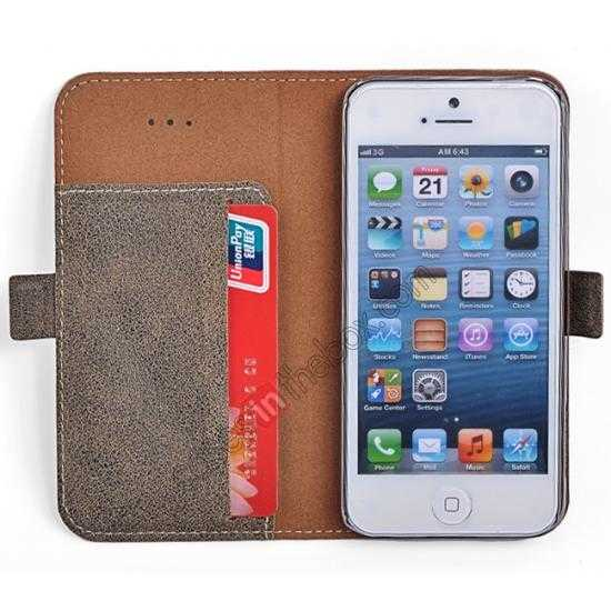 top quality Remax Luxury 100% Genuine Real Cow Leather Case for iPhone 5S/5