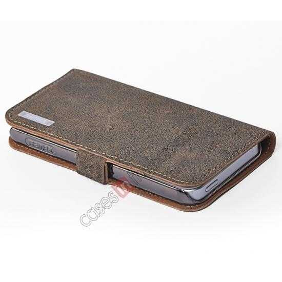 best price Remax Luxury 100% Genuine Real Cow Leather Case for iPhone 5S/5