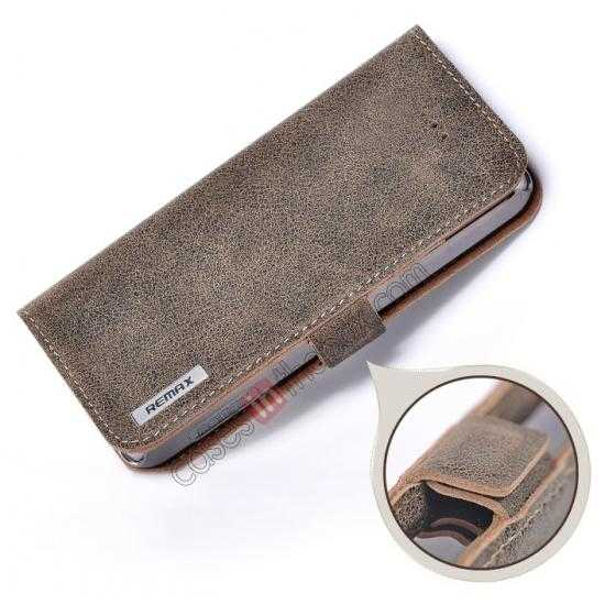 low price Remax Luxury 100% Genuine Real Cow Leather Case for iPhone 5S/5