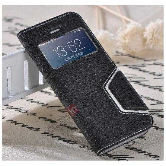 best price Remax Notebook Series S View Leather Case Stand for iPhone 5S/5 - Black