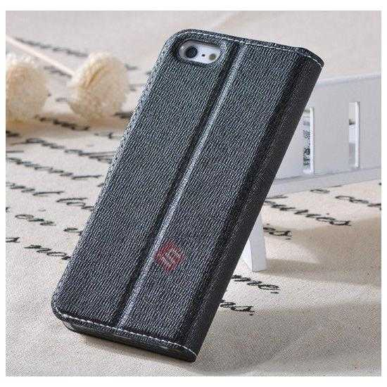on sale Remax Notebook Series S View Leather Case Stand for iPhone 5S/5 - Black