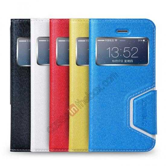 on sale Remax Notebook Series S View Leather Case Stand for iPhone 5S/5 - Blue