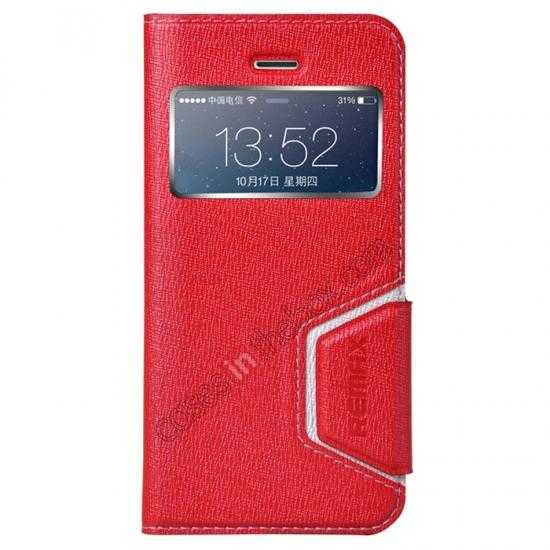 wholesale Remax Notebook Series S View Leather Case Stand for iPhone 5S/5 - Red