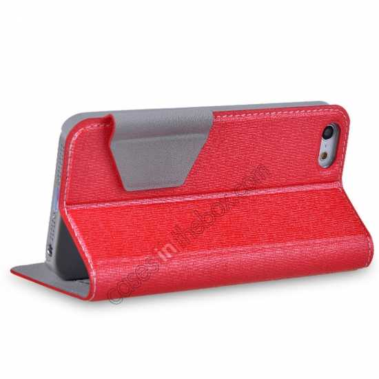on sale Remax Notebook Series S View Leather Case Stand for iPhone 5S/5 - Red