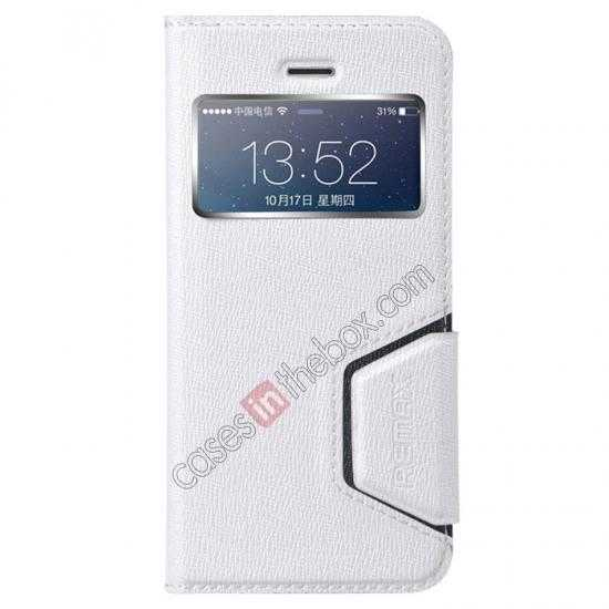 wholesale Remax Notebook Series S View Leather Case Stand for iPhone 5S/5 - White