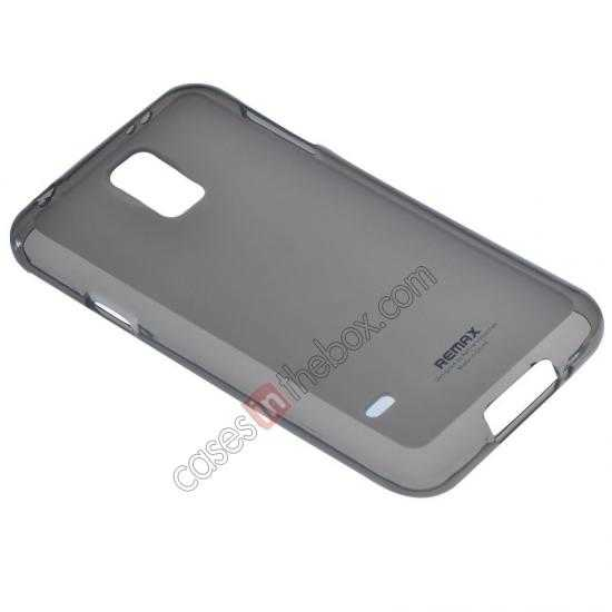 cheap Remax Super Pudding Series TPU Jelly Gel Case for Samsung Galaxy S5 - Grey