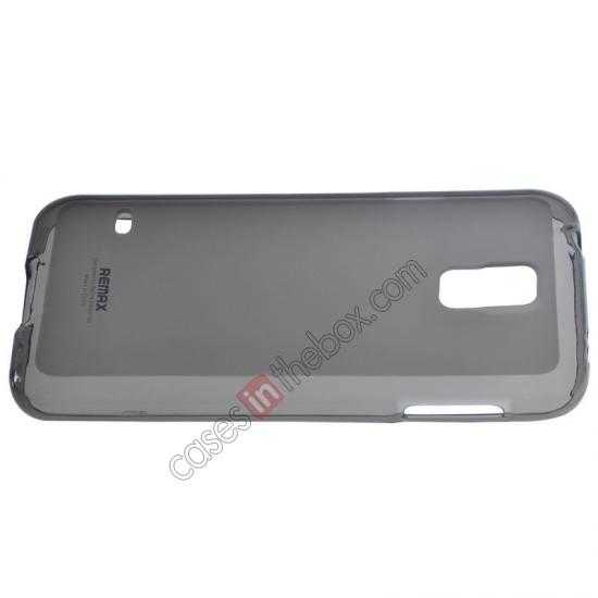 top quality Remax Super Pudding Series TPU Jelly Gel Case for Samsung Galaxy S5 - Grey