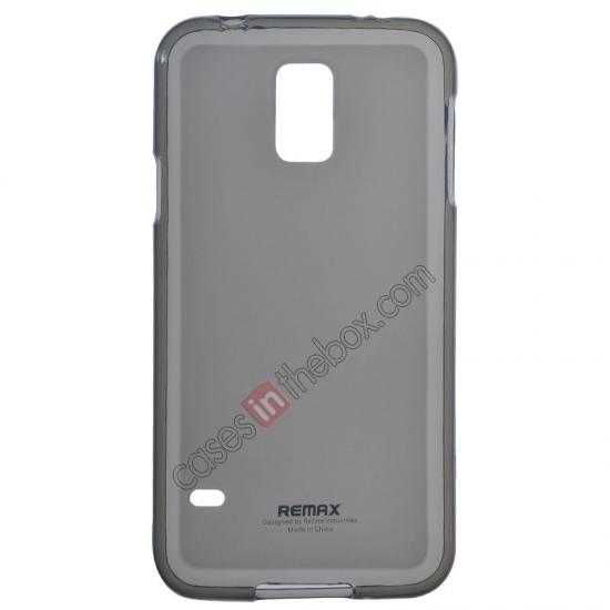 wholesale Remax Super Pudding Series TPU Jelly Gel Case for Samsung Galaxy S5 - Grey