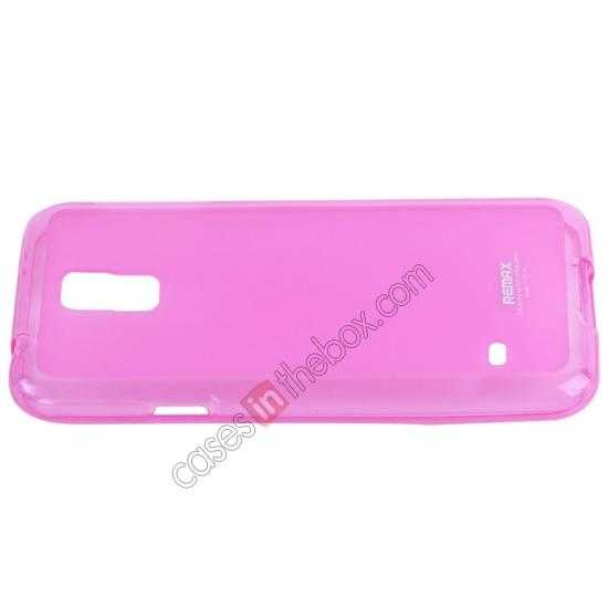 cheap Remax Super Pudding Series TPU Jelly Gel Case for Samsung Galaxy S5 - Pink