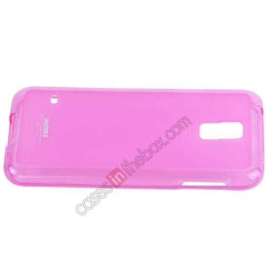 top quality Remax Super Pudding Series TPU Jelly Gel Case for Samsung Galaxy S5 - Pink