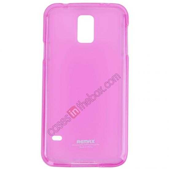 wholesale Remax Super Pudding Series TPU Jelly Gel Case for Samsung Galaxy S5 - Pink
