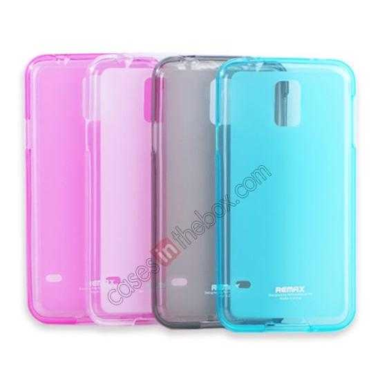 on sale Remax Super Pudding Series TPU Jelly Gel Case for Samsung Galaxy S5 - Pink