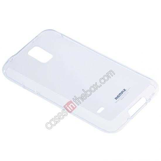 wholesale Remax Super Pudding Series TPU Jelly Gel Case for Samsung Galaxy S5 - White