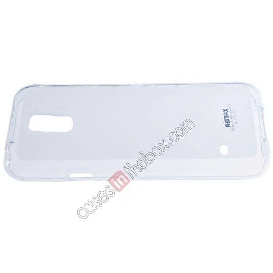 cheap Remax Super Pudding Series TPU Jelly Gel Case for Samsung Galaxy S5 - White