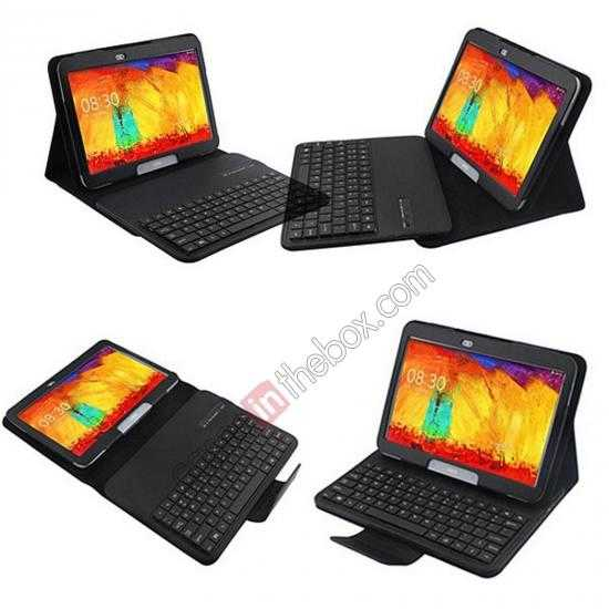 wholesale Removable Bluetooth Keyboard Leather Case for Samsung Galaxy Tab Pro 10.1 T520 - Black