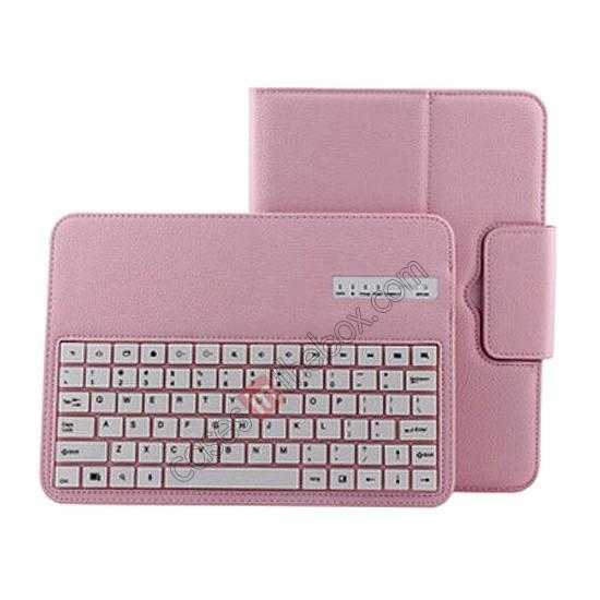 best price Removable Bluetooth Keyboard Leather Case for Samsung Galaxy Tab Pro 10.1 T520 - Pink