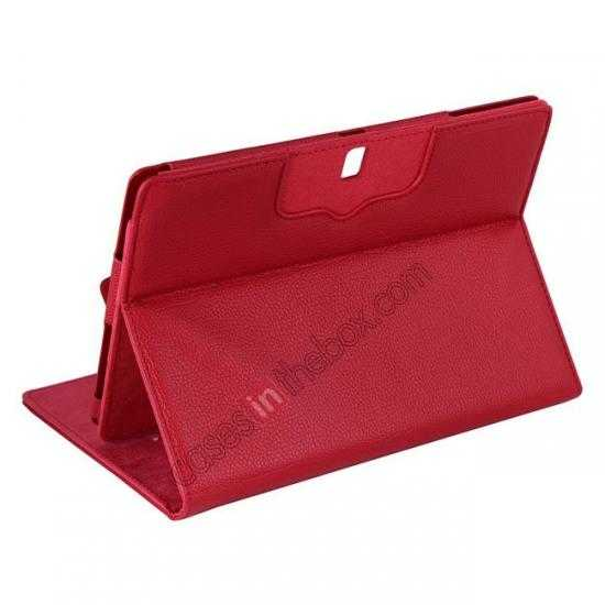 cheap Removable Bluetooth Keyboard Leather Case for Samsung Galaxy Tab Pro 10.1 T520 - Red