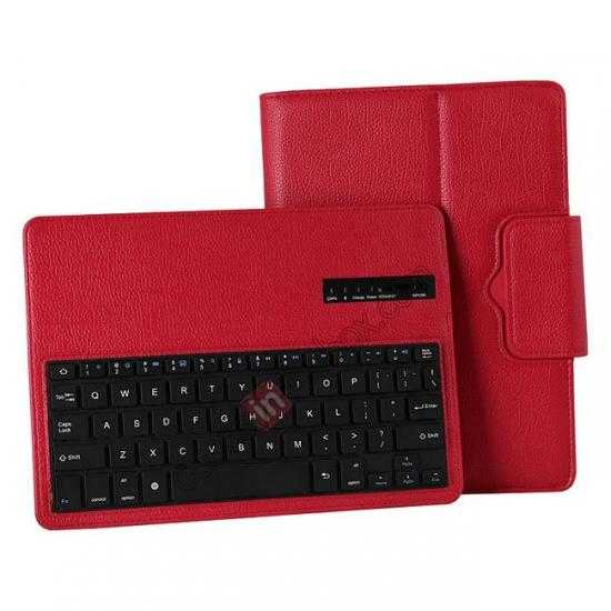 top quality Removable Bluetooth Keyboard Leather Case for Samsung Galaxy Tab Pro 10.1 T520 - Red