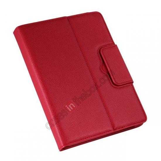 on sale Removable Bluetooth Keyboard Leather Case for Samsung Galaxy Tab Pro 10.1 T520 - Red