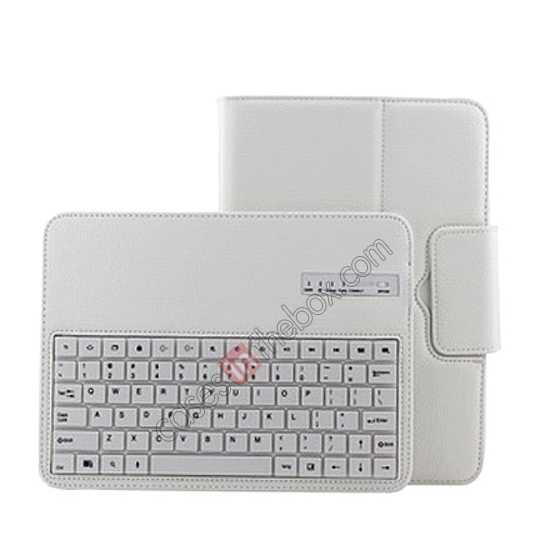 on sale Removable Bluetooth Keyboard Leather Case for Samsung Galaxy Tab Pro 10.1 T520 - White
