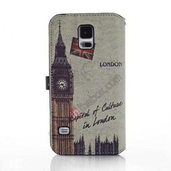 discount Retro Big Ben Pattern Folio Wallet Leather Case For Samsung Galaxy S5 G900