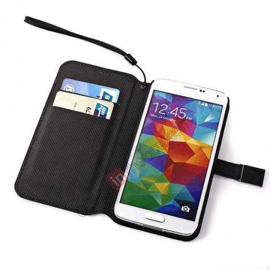 top quality Retro Big Ben Pattern Folio Wallet Leather Case For Samsung Galaxy S5 G900