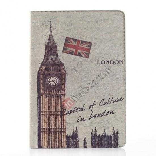 wholesale Retro Big Ben Pattern Leather Case Cover for Samsung Galaxy Tab Pro 12.2 P900