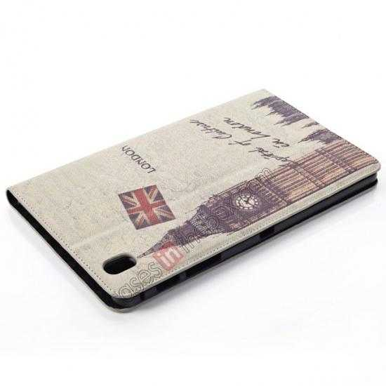 top quality Retro Big Ben Pattern Leather Case Cover for Samsung Galaxy Tab Pro 8.4 T320