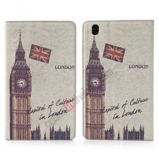 wholesale Retro Big Ben Pattern Leather Case Cover for Samsung Galaxy Tab Pro 8.4 T320