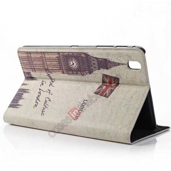 discount Retro Big Ben Pattern Leather Case Cover for Samsung Galaxy Tab Pro 8.4 T320