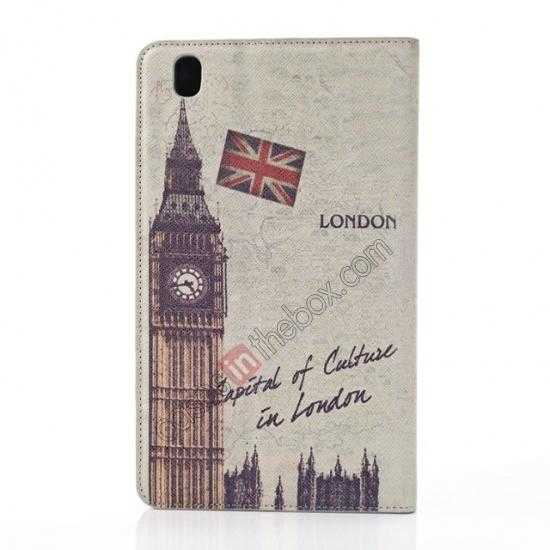 on sale Retro Big Ben Pattern Leather Case Cover for Samsung Galaxy Tab Pro 8.4 T320