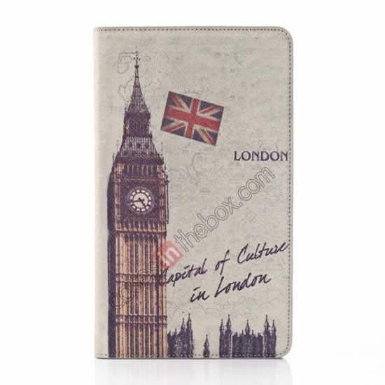 best price Retro Big Ben Pattern Leather Case Cover for Samsung Galaxy Tab Pro 8.4 T320