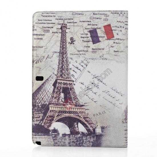 discount Retro Eiffel Tower Pattern Leather Case Cover for Samsung Galaxy Tab Pro 12.2 P900