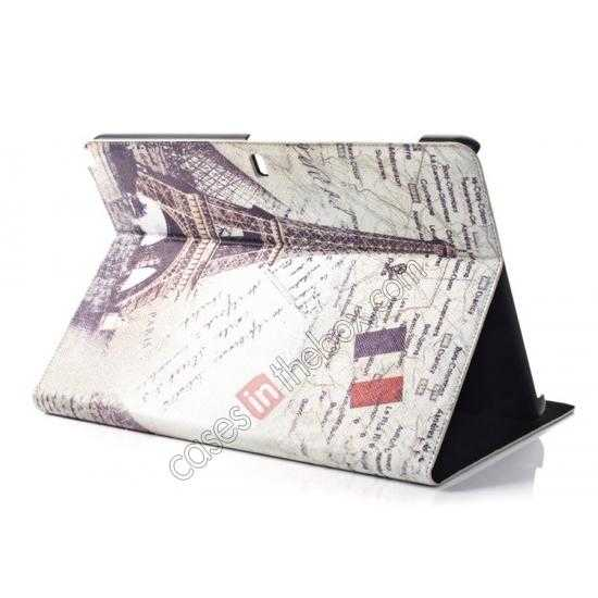 cheap Retro Eiffel Tower Pattern Leather Case Cover for Samsung Galaxy Tab Pro 12.2 P900