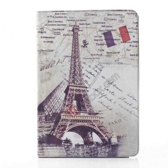 wholesale Retro Eiffel Tower Pattern Leather Case Cover for Samsung Galaxy Tab Pro 12.2 P900