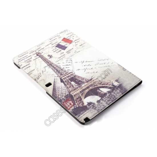 best price Retro Eiffel Tower Pattern Leather Case Cover for Samsung Galaxy Tab Pro 12.2 P900