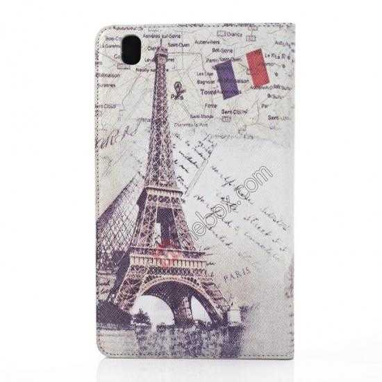 best price Retro Eiffel Tower Pattern Leather Case Cover for Samsung Galaxy Tab Pro 8.4 T320