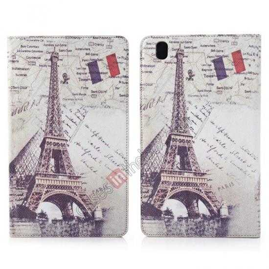 wholesale Retro Eiffel Tower Pattern Leather Case Cover for Samsung Galaxy Tab Pro 8.4 T320