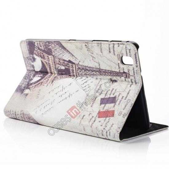 discount Retro Eiffel Tower Pattern Leather Case Cover for Samsung Galaxy Tab Pro 8.4 T320