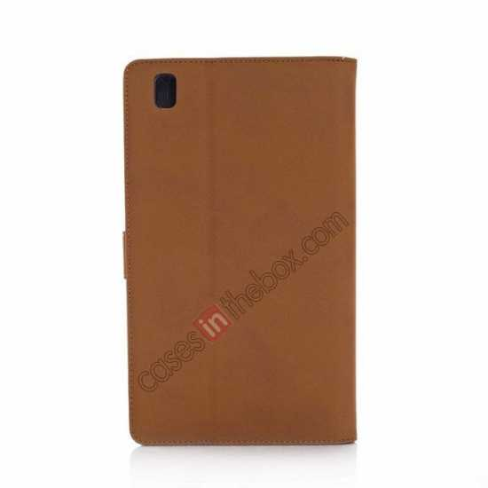 cheap Retro Folio Magnetic Leather Stand Case for Samsung Galaxy Tab Pro 8.4 T320 - Brown