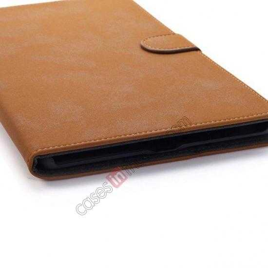 low price Retro Folio Magnetic Leather Stand Case for Samsung Galaxy Tab Pro 8.4 T320 - Brown