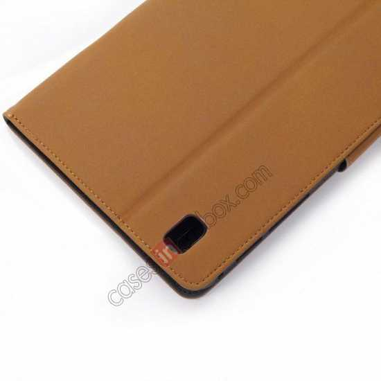 high quanlity Retro Folio Magnetic Leather Stand Case for Samsung Galaxy Tab Pro 8.4 T320 - Brown