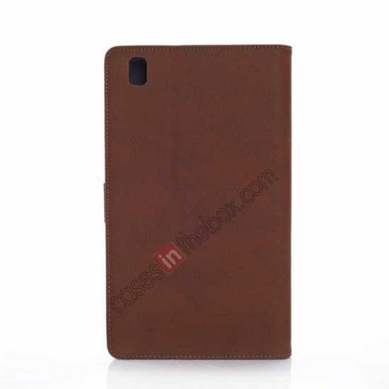 cheap Retro Folio Magnetic Leather Stand Case for Samsung Galaxy Tab Pro 8.4 T320 - Dark Brown