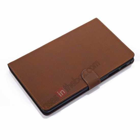 top quality Retro Folio Magnetic Leather Stand Case for Samsung Galaxy Tab Pro 8.4 T320 - Dark Brown