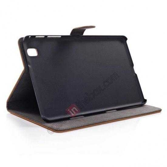 best price Retro Folio Magnetic Leather Stand Case for Samsung Galaxy Tab Pro 8.4 T320 - Dark Brown