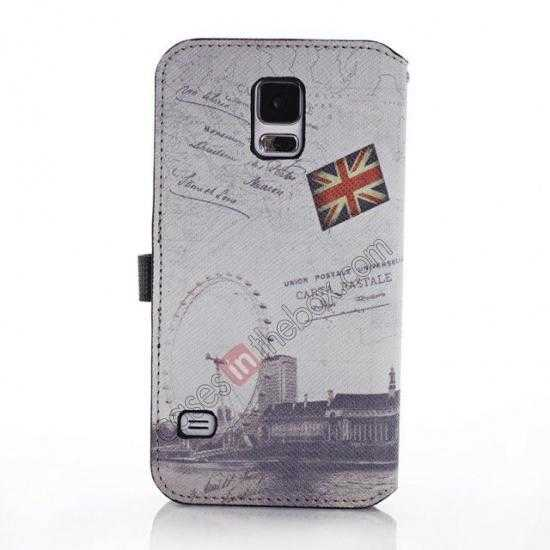 discount Retro Folio Wallet Leather Flip Case For Samsung Galaxy S5 G900