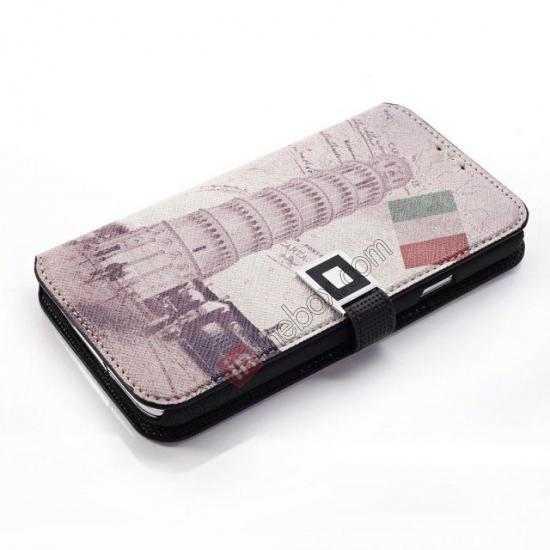 cheap Retro Leaning Tower Of Pisa Pattern Folio Wallet Leather Case For Samsung Galaxy S5 G900