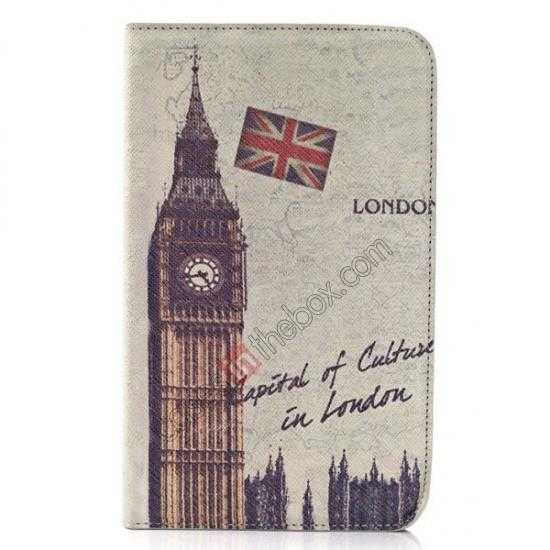 wholesale Retro Smart Leather Case Stand for Samsung Galaxy Tab 3 7.0 Lite T110 - Big Ben