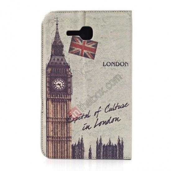 discount Retro Smart Leather Case Stand for Samsung Galaxy Tab 3 7.0 Lite T110 - Big Ben